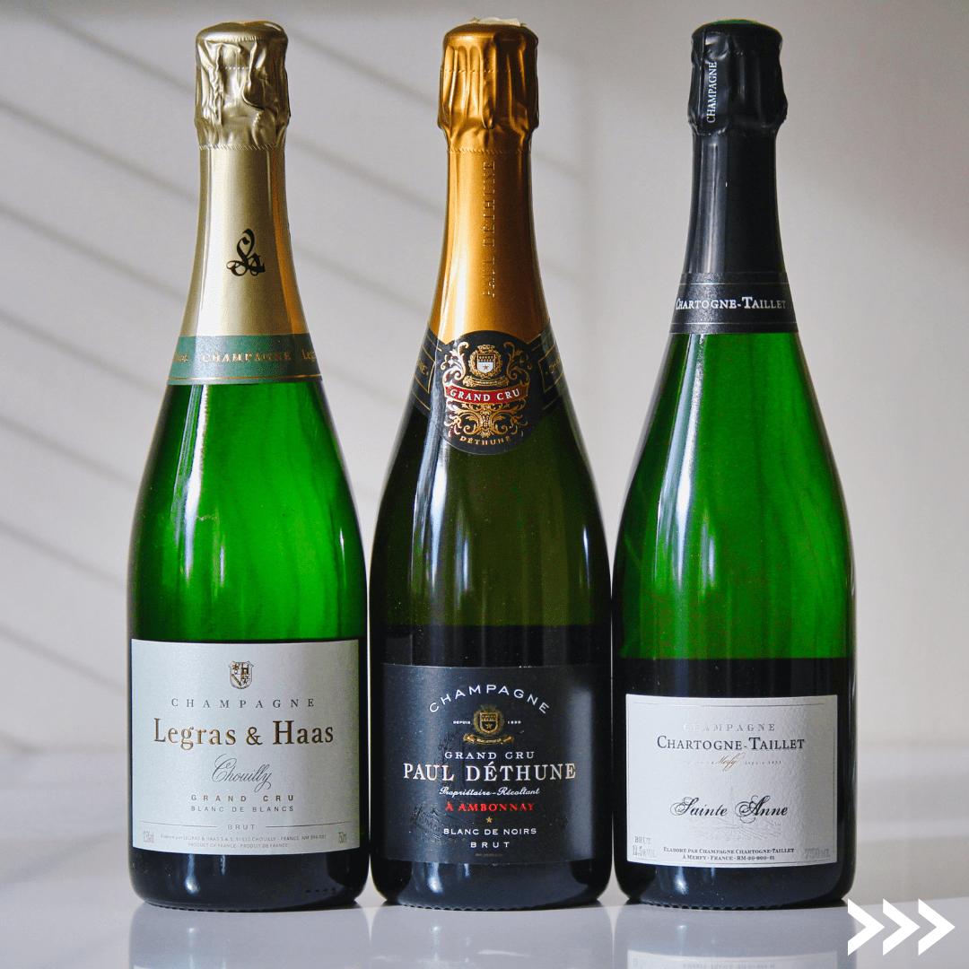 3 olika champagnestilar från Franska Vinlistan